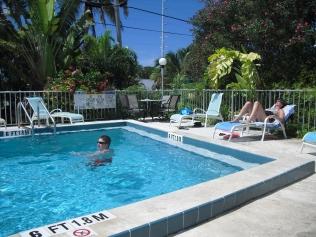 Heerlijk zwembadje voor ons!